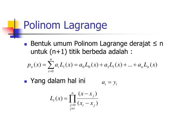 Polinom Lagrange
