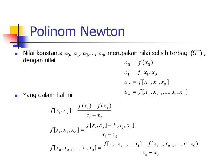 Polinom Newton