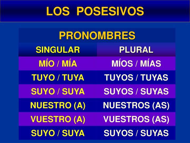 ppt los posesivos powerpoint presentation id 7069589