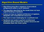 algorithm based models