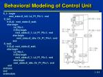 behavioral modeling of control unit1