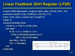 linear feedback shift register lfsr3