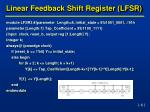 linear feedback shift register lfsr4