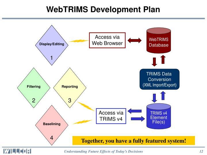 WebTRIMS Development Plan