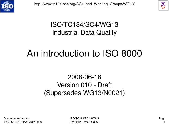 an introduction to iso 8000 n.