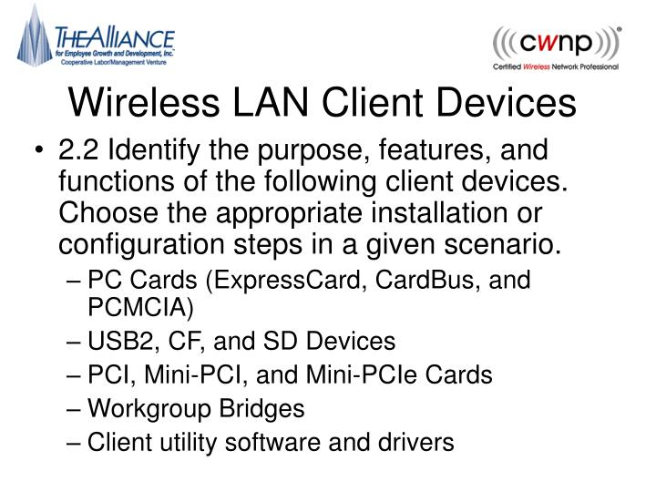 wireless lan client devices n.
