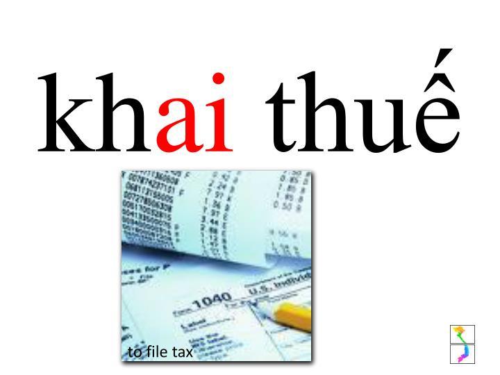 to file tax