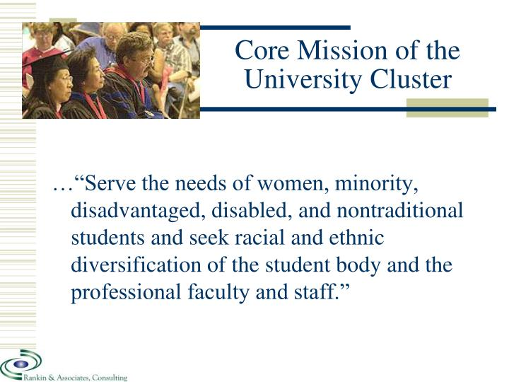 Core Mission of the University Cluster