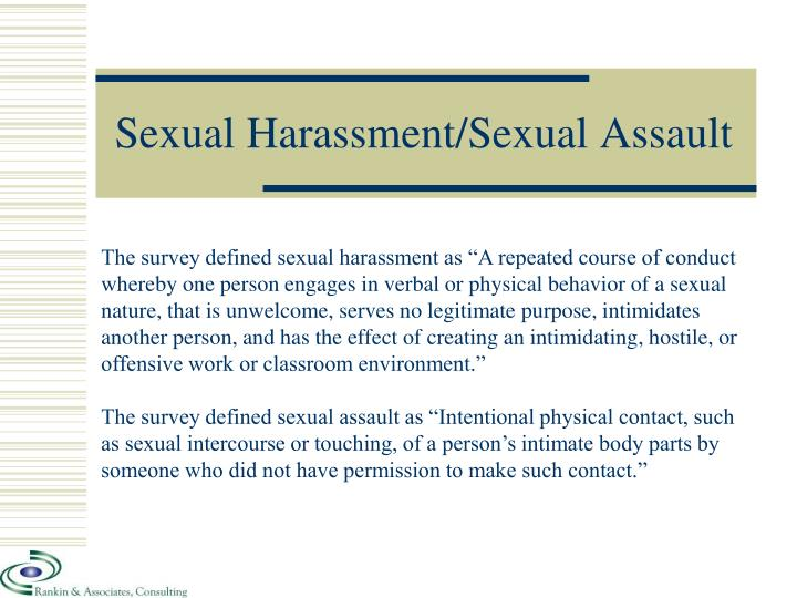 Sexual Harassment/Sexual Assault