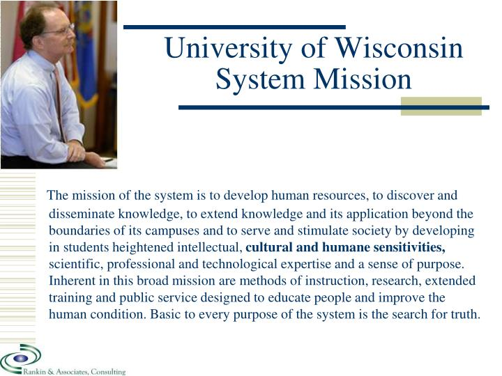 University of Wisconsin System Mission