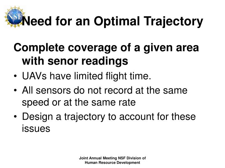 Need for an Optimal Trajectory
