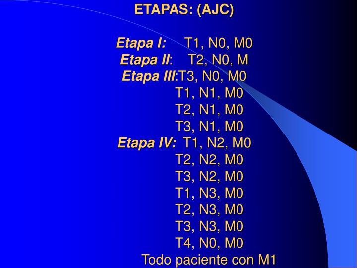 ETAPAS: (AJC)