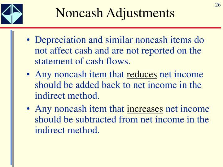 Noncash Adjustments