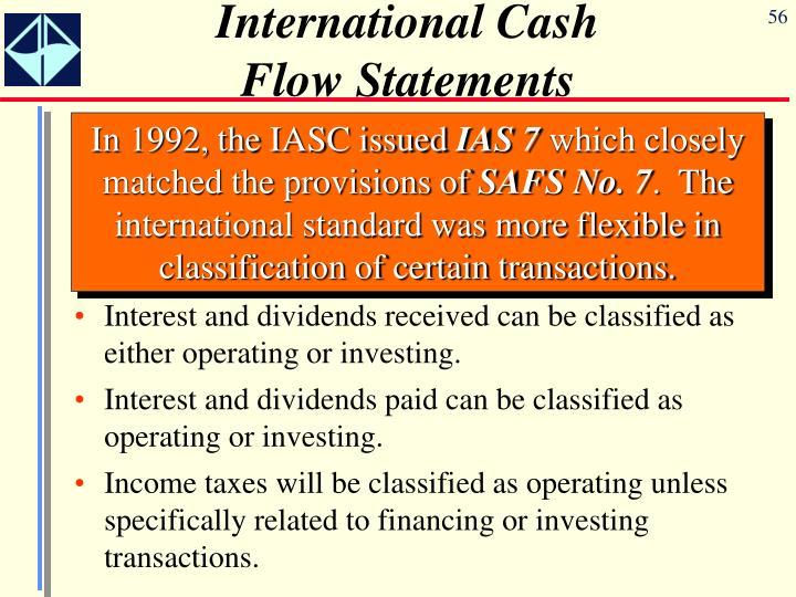 International Cash Flow Statements