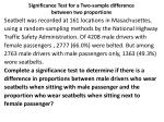 significance test for a two sample difference between two proportions
