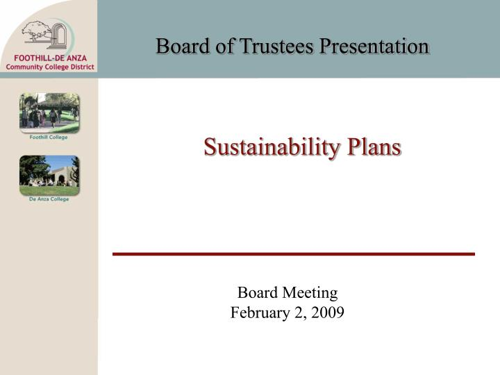 sustainability plans n.