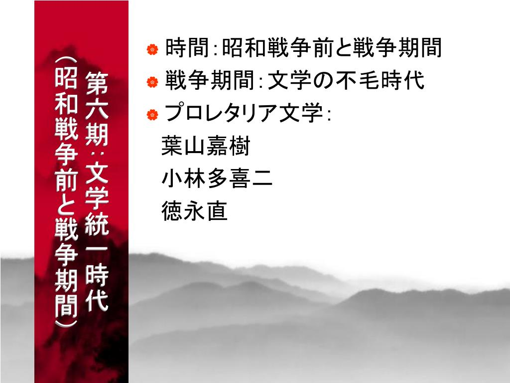 日本近現代文学史 - PowerPoint PPT Presentation