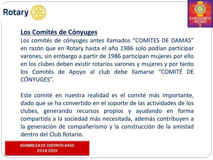 Los Comités de Cónyuges