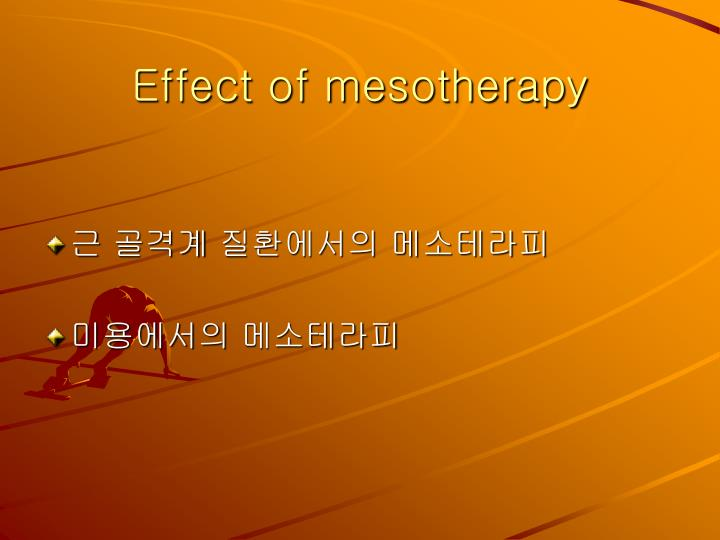 Effect of mesotherapy