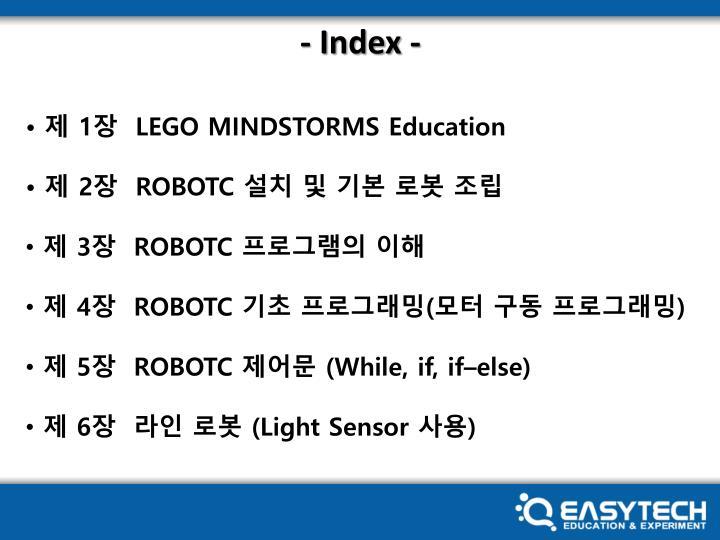 - Index -