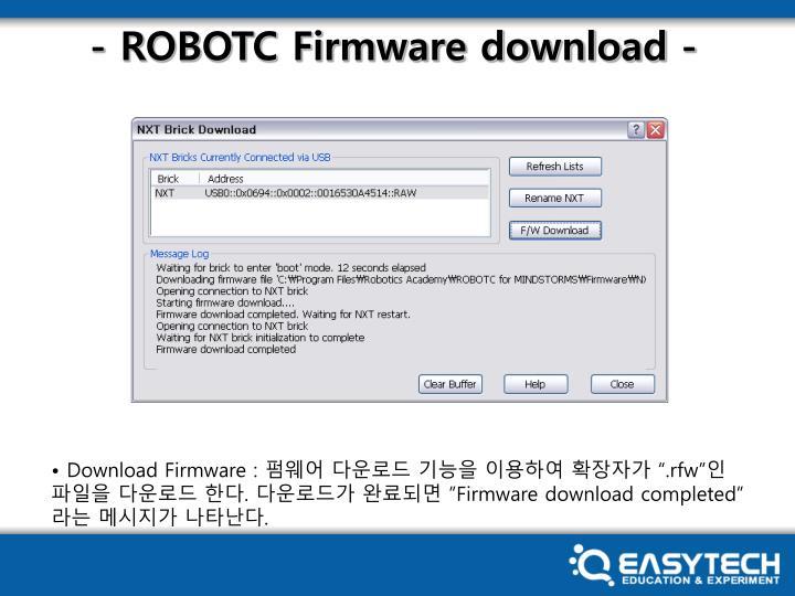 - ROBOTC Firmware download -