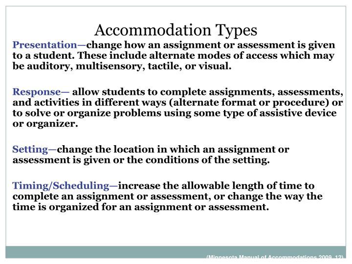 Accommodation Types