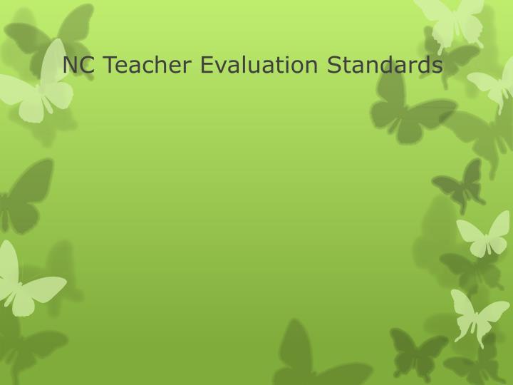 NC Teacher Evaluation Standards
