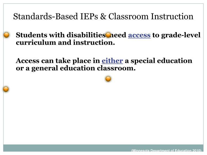 Standards-Based IEPs & Classroom Instruction