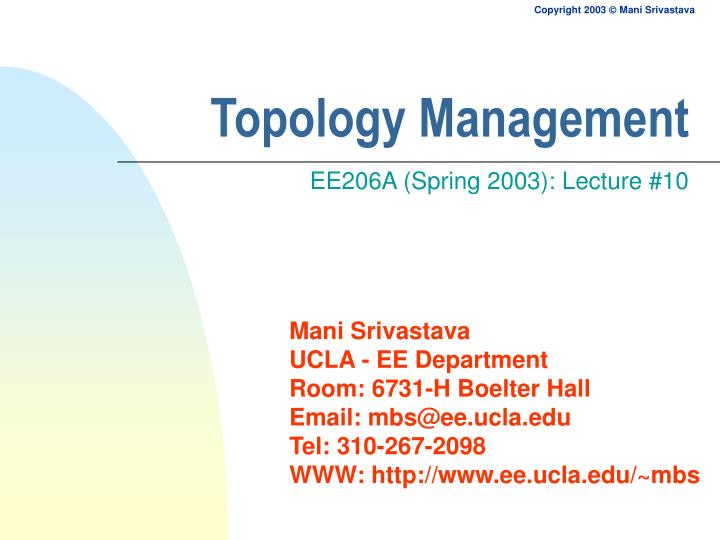 topology management n.