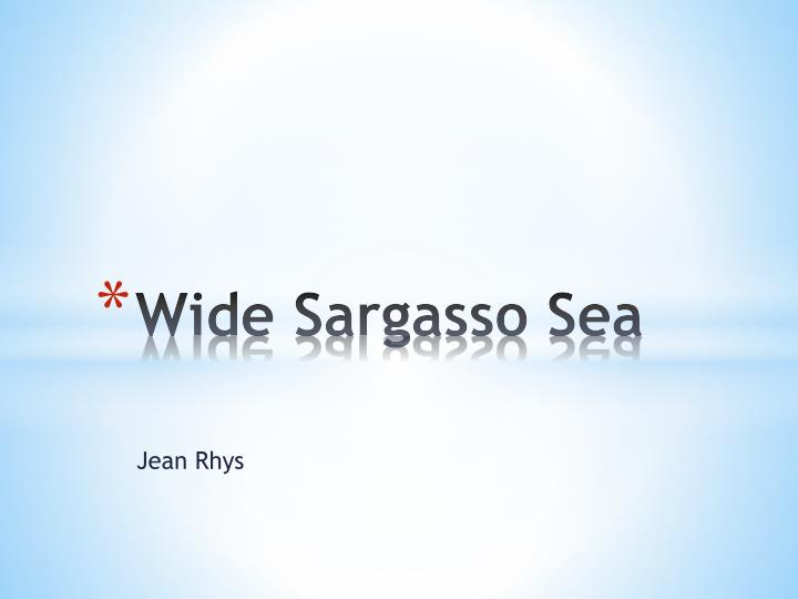 wide sargasso sea motif walls essay [this essay is part ii of the author's painting with words: natural and spiritual landscapes in jane eyre and wide sargasso sea] in her intervention into brontë's ethnocentric representation of this white, creole, colonial subject, jean rhys recodes and rehumanizes bertha.