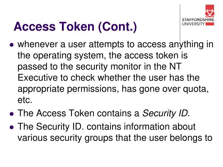 Access Token (Cont.)