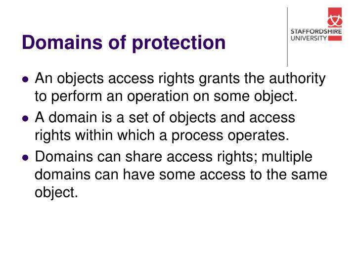 Domains of protection