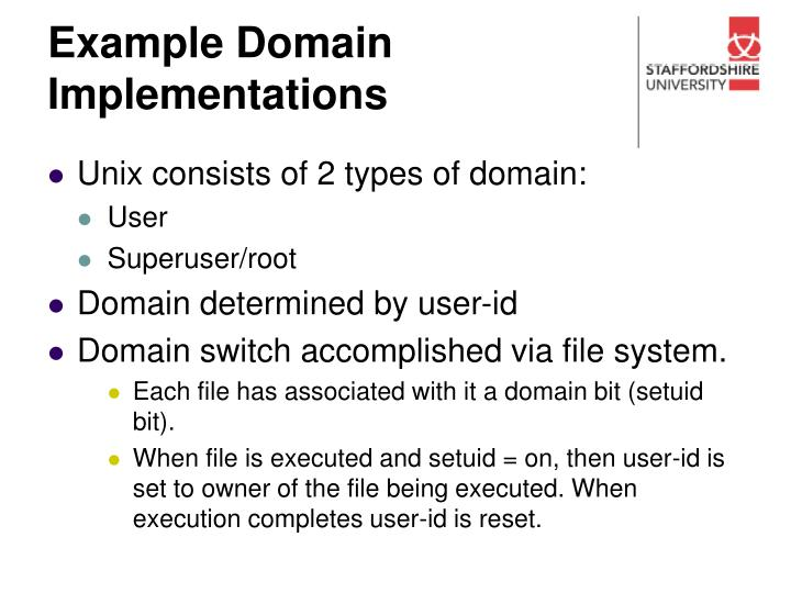 Example Domain Implementations