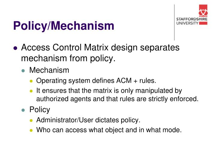 Policy/Mechanism