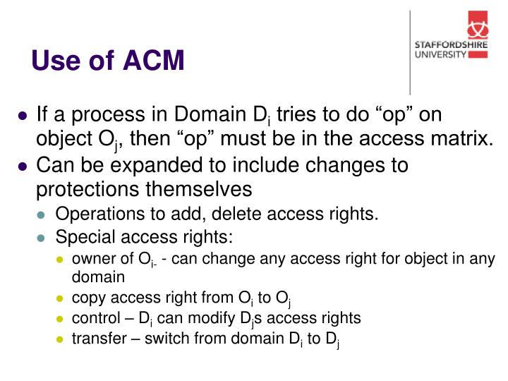 Use of ACM