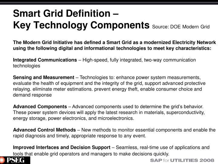 Smart Grid Definition –