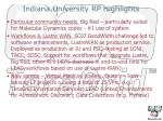 indiana university rp highlights