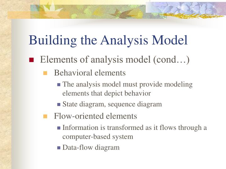 Building the Analysis Model