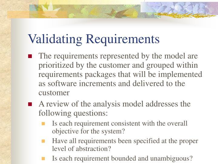 Validating Requirements