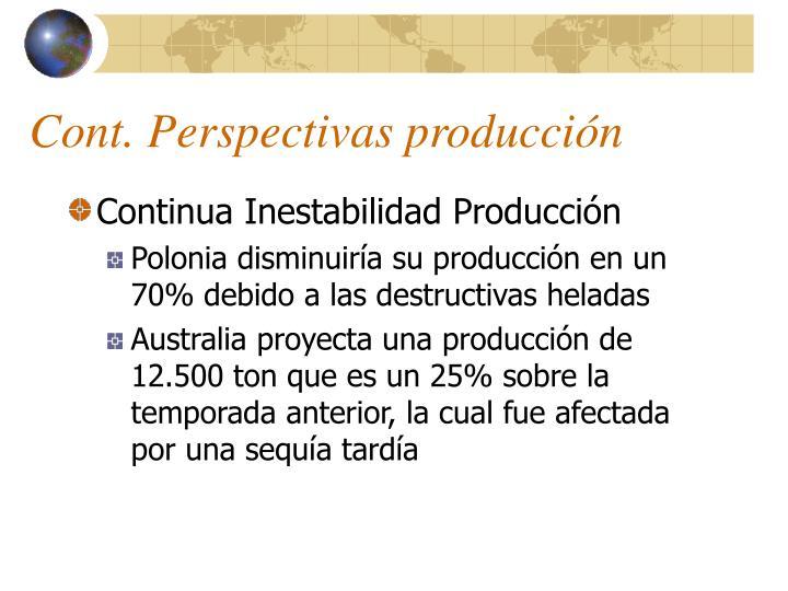 Cont. Perspectivas producción
