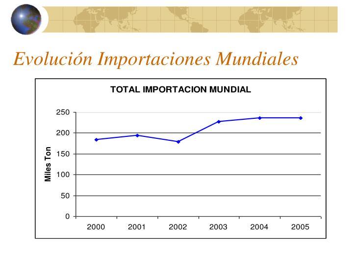 Evolución Importaciones Mundiales