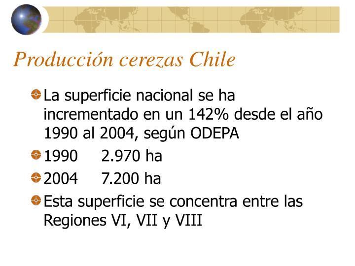 Producción cerezas Chile