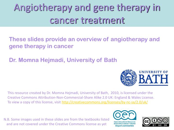 angiotherapy and gene therapy in cancer treatment n.
