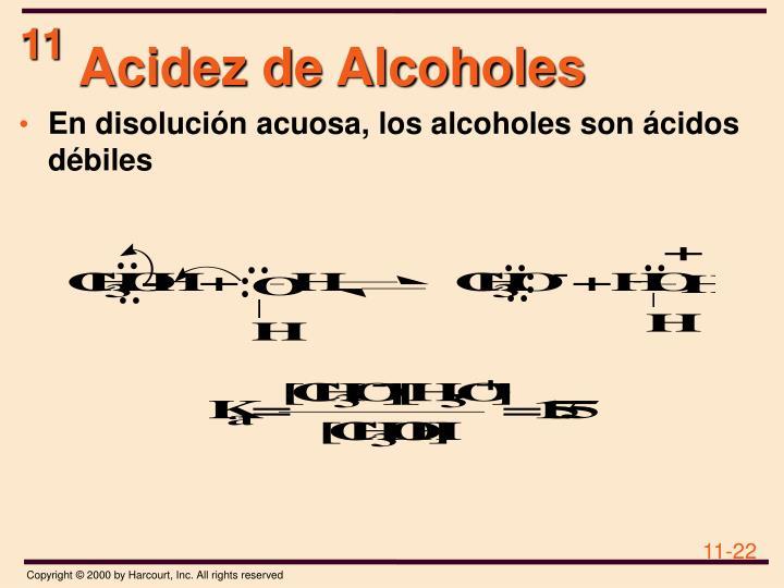 Acidez de Alcoholes