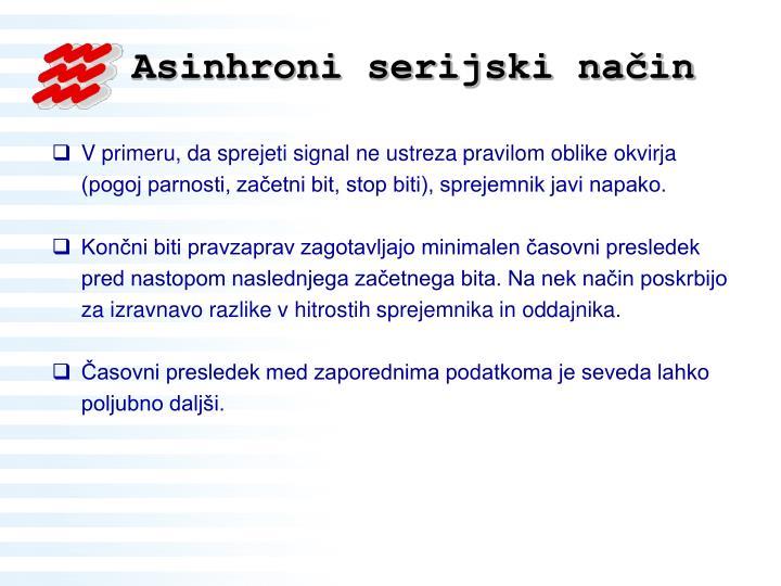 Asinhroni serijski način
