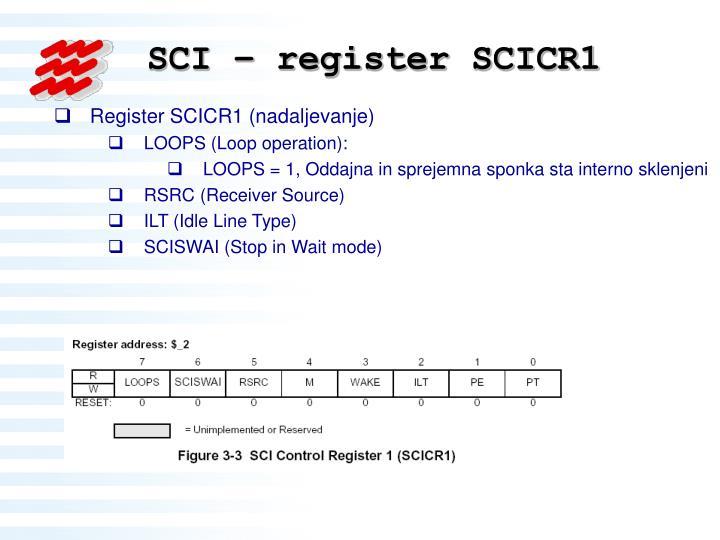 SCI – register SCICR1
