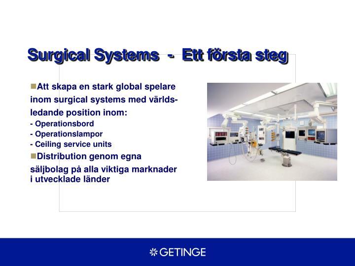 Surgical Systems  -  Ett första steg