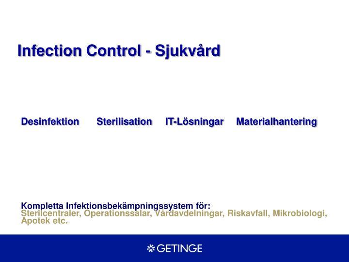 Infection Control - Sjukvård
