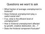 questions we want to ask