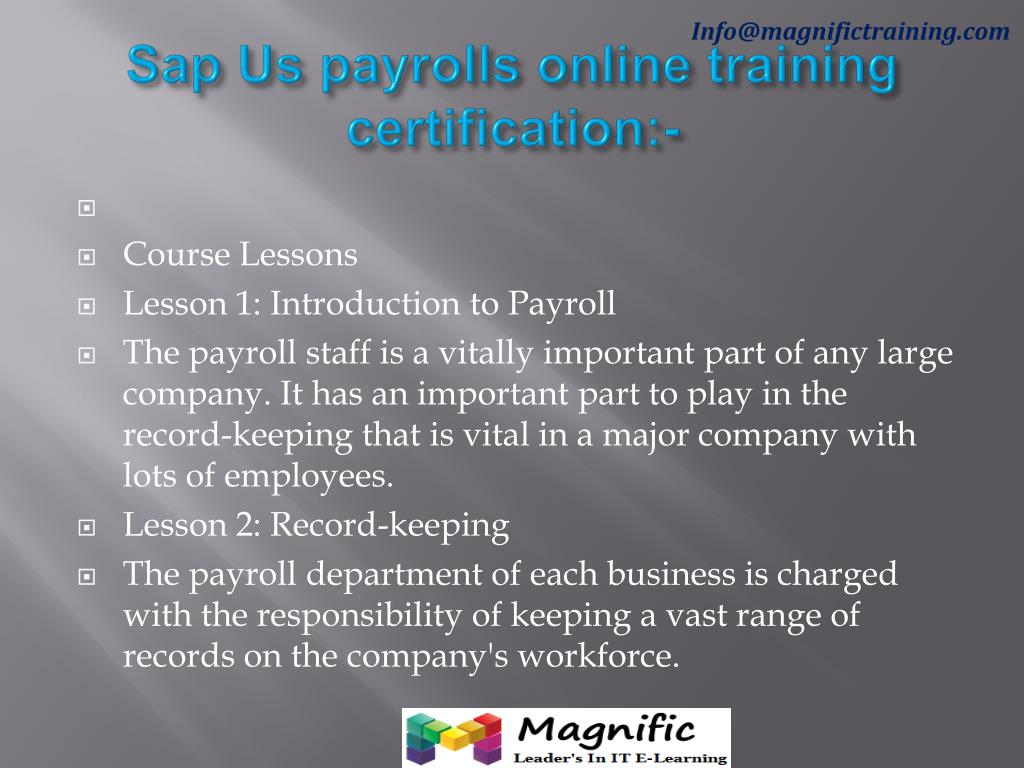 PPT - sap us payrolls online training PowerPoint